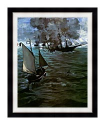 Edouard Manet Battle Of The Kearsarge And The Alabama Portrait Detail canvas with modern black frame