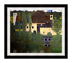Gustav Klimt Schloss Kammer On The Attersee I canvas with modern black frame