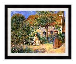 Pierre Auguste Renoir Garden Scene In Brittany canvas with modern black frame