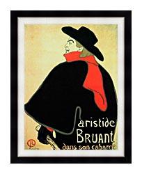 Henri De Toulouse Lautrec Aristide Bruant In His Cabaret canvas with modern black frame