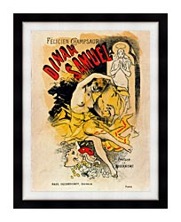 Jules Cheret Cover For Felicien Champsaurs Dinah Samuel canvas with modern black frame