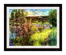 Pierre Auguste Renoir The Seine At Chatou canvas with modern black frame