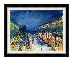 Camille Pissarro Boulevard Montmartre Night Effect canvas with modern black frame