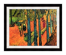 Vincent Van Gogh Les Alyscamps Avenue At Arles canvas with modern black frame