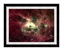 Courtesy Nasa Jpl Caltech 30 Doradus Newborn Stars Of Tarantula Nebula canvas with modern black frame