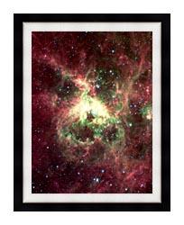 Courtesy Nasa Jpl Caltech 30 Doradus Newborn Stars Of Tarantula Nebula Portrait Detail canvas with modern black frame