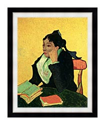 Vincent Van Gogh Madame Ginoux With Books canvas with modern black frame