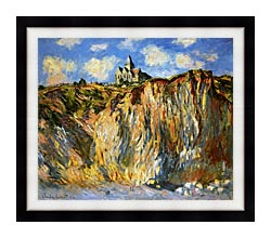 Claude Monet The Church At Varengeville Morning Effect canvas with modern black frame
