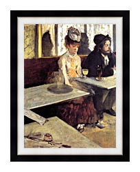 Edgar Degas The Absinthe Drinker In A Cafe canvas with modern black frame