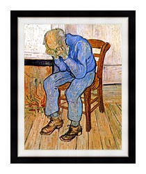 Vincent Van Gogh Old Man In Sorrow canvas with modern black frame