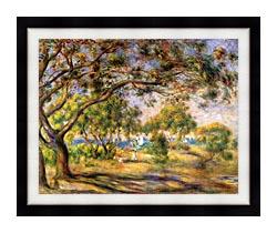 Pierre Auguste Renoir Noirmoutiers canvas with modern black frame