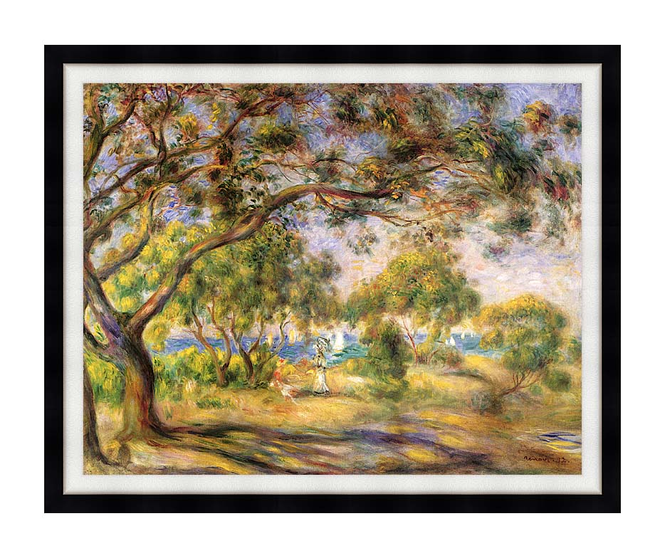 Pierre Auguste Renoir Noirmoutiers with Modern Black Frame