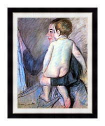 Mary Cassatt At The Window canvas with modern black frame
