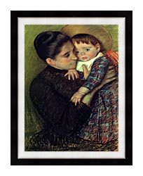 Mary Cassatt Helene De Septeuil canvas with modern black frame