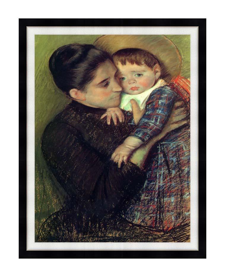 Mary Cassatt Helene de Septeuil with Modern Black Frame