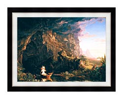 Thomas Cole The Voyage Of Life Childhood canvas with modern black frame
