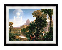 Thomas Cole The Voyage Of Life Youth canvas with modern black frame