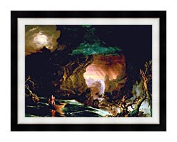 Thomas Cole The Voyage Of Life Manhood canvas with modern black frame