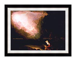 Thomas Cole The Voyage Of Life Old Age canvas with modern black frame