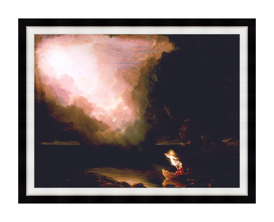 Thomas Cole The Voyage of Life: Old Age with Modern Black Frame