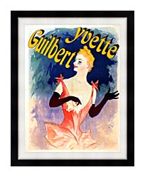 Jules Cheret Yvette Guilbert Au Concert Parisien canvas with modern black frame
