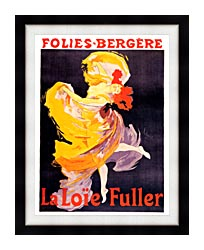 Jules Cheret Folies Bergere La Loie Fuller canvas with modern black frame
