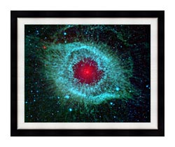 Courtesy Nasa Jpl Caltech Comets Kick Up Dust In Helix Nebula canvas with modern black frame
