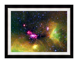 Courtesy Nasa Jpl Caltech Stars In Serpens canvas with modern black frame