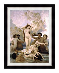 William Bouguereau The Birth Of Venus canvas with modern black frame
