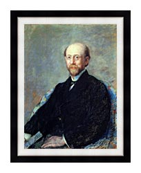 Mary Cassatt Moise Dreyfus canvas with modern black frame