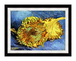 Vincent Van Gogh Two Sunflowers canvas with modern black frame