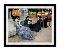 Gustave Caillebotte Portraits In The Countryside canvas with modern black frame