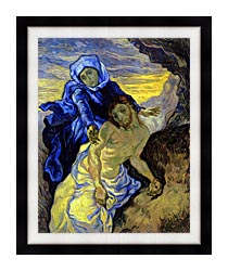 Vincent Van Gogh Pieta canvas with modern black frame