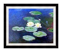 Claude Monet Nympheas Effet Du Soir canvas with modern black frame