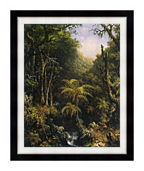 Martin Johnson Heade Brazilian Forest canvas with modern black frame