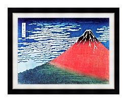 Katsushika Hokusai Mount Fuji In Clear Weather canvas with modern black frame