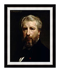 William Bouguereau Portrait Of The Artist William Bouguereau canvas with modern black frame
