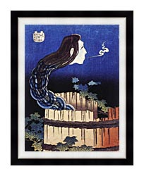Katsushika Hokusai Okiku The Plate Specter canvas with modern black frame