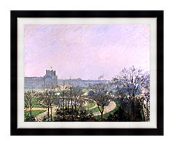 Camille Pissarro The Tuilieries Gardens canvas with modern black frame