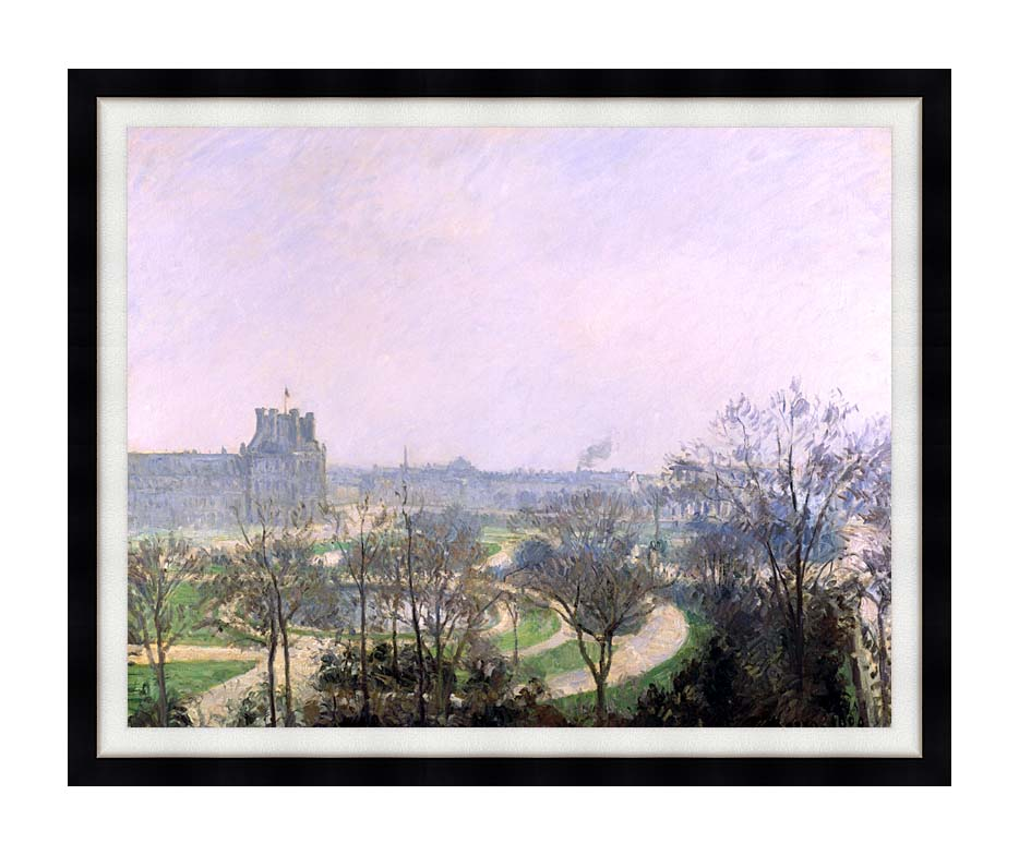 Camille Pissarro The Tuilieries Gardens with Modern Black Frame