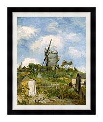 Vincent Van Gogh Blute Fin Windmill Montmartre canvas with modern black frame