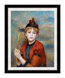 Pierre Auguste Renoir The Rambler canvas with modern black frame