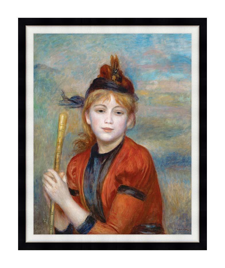 Pierre Auguste Renoir The Rambler with Modern Black Frame