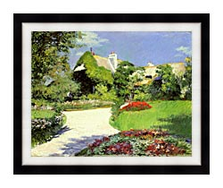 Gustave Caillebotte Thatched Cottage At Trouville canvas with modern black frame
