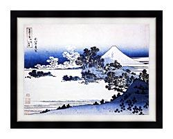Katsushika Hokusai Fuji Seen From Shichirigahama Beach In The Sagami Province canvas with modern black frame