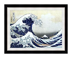 Katsushika Hokusai The Great Wave At Kanagawa canvas with modern black frame