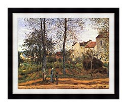 Camille Pissarro Landscape At Louveciennes canvas with modern black frame