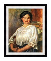 Pierre Auguste Renoir Young Girl Seated canvas with modern black frame