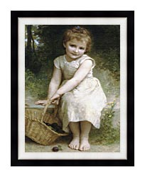 William Bouguereau Plums canvas with modern black frame