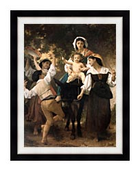 William Bouguereau Return From The Harvest canvas with modern black frame